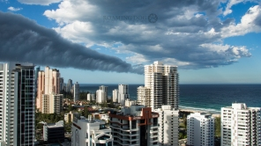 Clouds over the gold coast